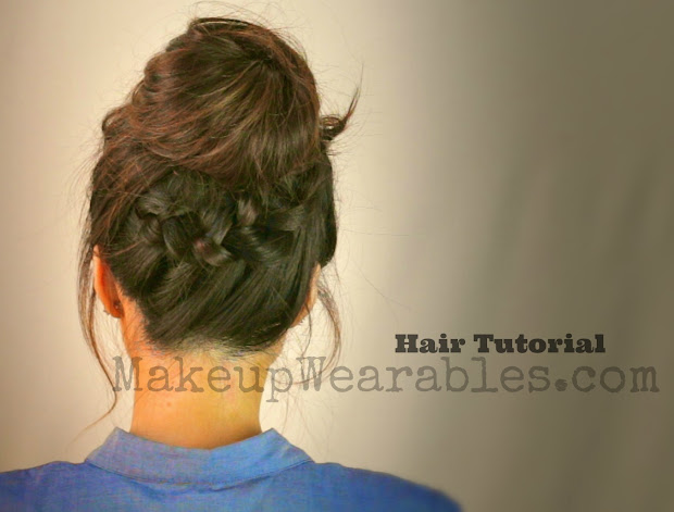 hair tutorial messy bun
