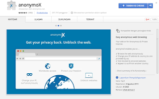 Cara Memasang AnonimoX di Chrome dan Mozilla