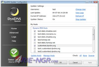 DynDNS Updater 5.4.0 Final Terbaru