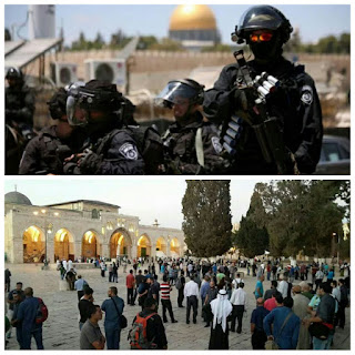 Ratusan Militer Yahudi berbuat onar di masjid Alaqsa, bantu share