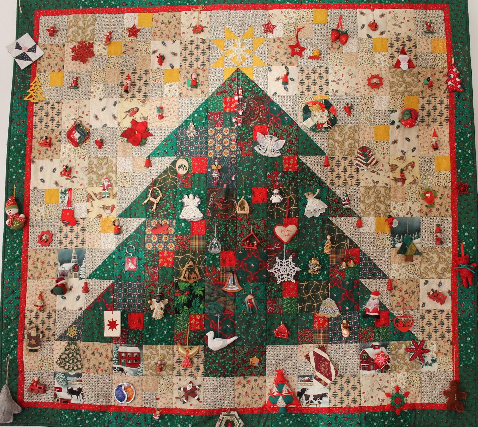 Kerst Quilt Patronen.Mbw Quilts En Andere Stofzaken 185 Kerstquilt Christmas