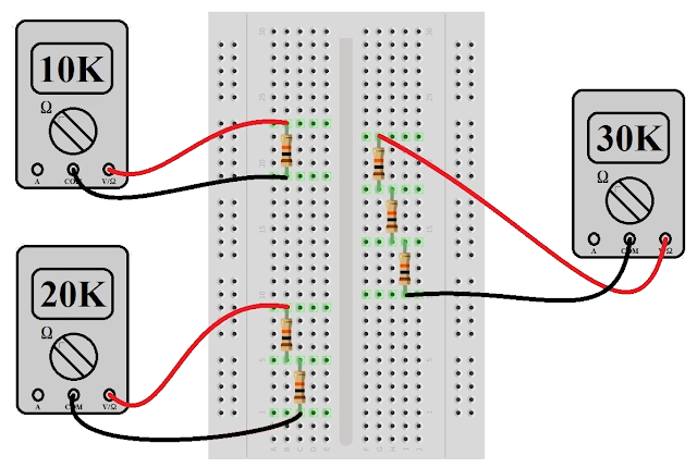 series and parallel combination of resistors