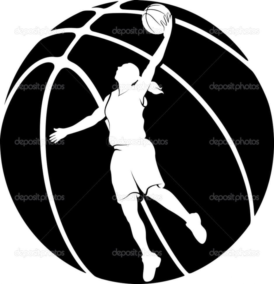 4570book Crossover Basketball Clipart Black In Pack 5255