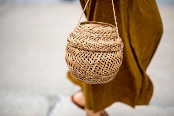 wiklinowa torebka koszyczek