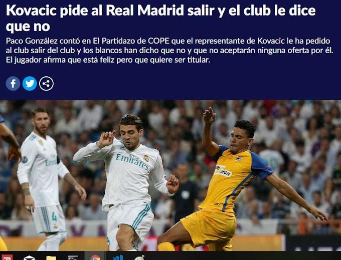 Kovačić hands in transfer request at Real Madrid