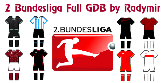 PES 2013 2 Bundesliga Full GDB kits 2016-17 by Radymir