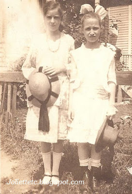 Julia Walsh and Sadie Burns about 1917-1918 http://jollettetc.blogspot.com