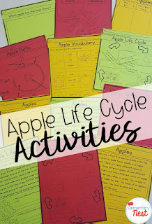 apple life cycle unit- September Activities and primary resources plus three FREEBIES- fun ELA, math, and social studies activities for students during the month of September