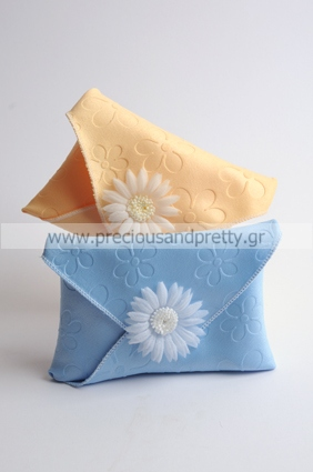 Greek christening favors for girl with daisies B22