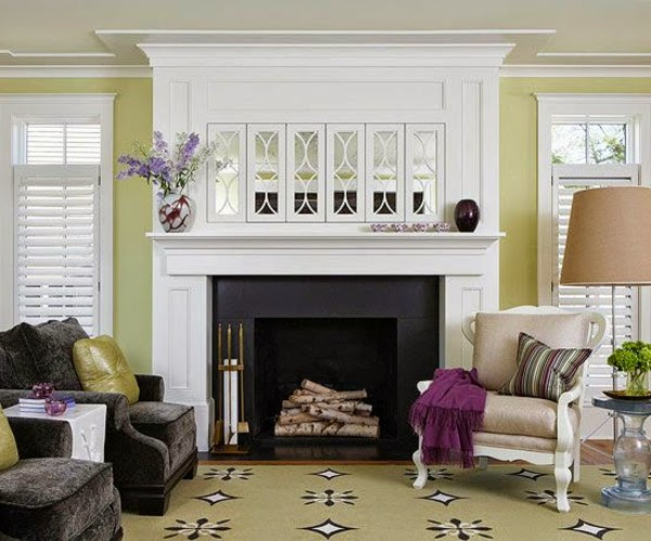 20 comfortable living room color schemes and paint color ideas - Green colour schemes for living rooms ...