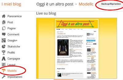 Come fare il backup del modello di blogger