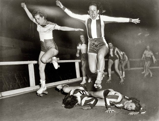 52 photos of women who changed history forever - Women's league roller derby skaters in New York. [March 10, 1950]