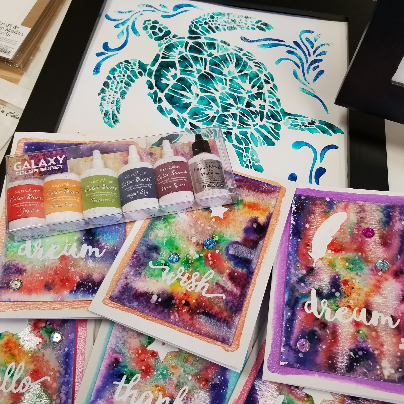 Hy Crafters Here We Just Made Color Burst Galaxy Cards