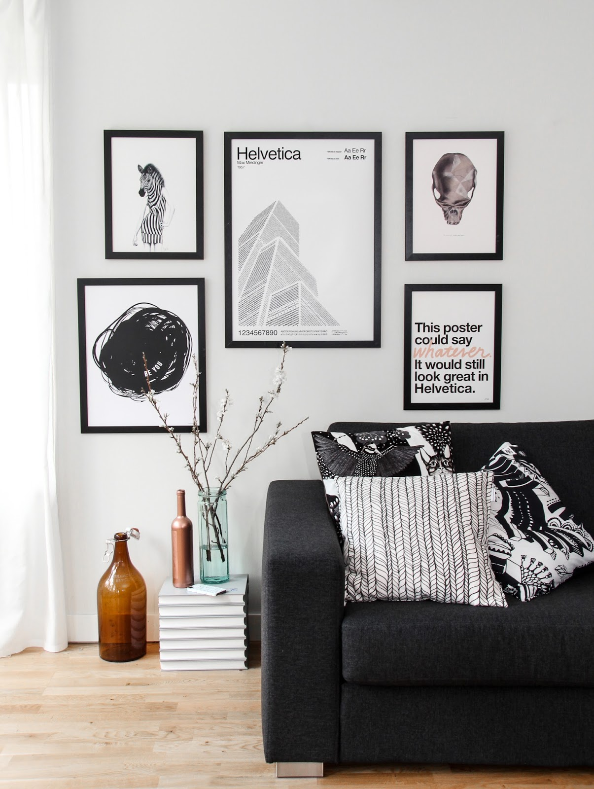 Group Smaller Photos And Pictures Together As Seen Here By The Nordic Design Collective Or Have Just One Two Big Statement Pieces Above