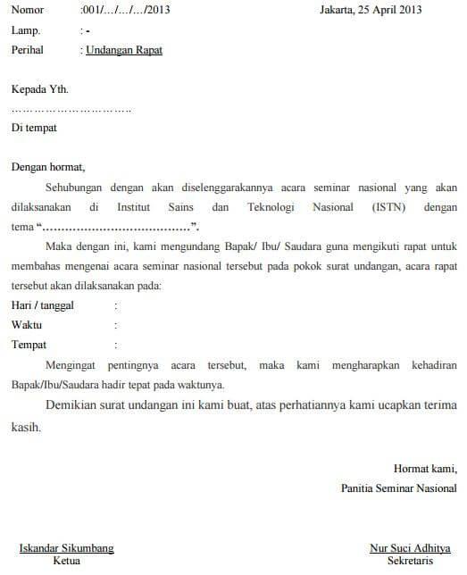 Surat Dispensasi Ujian