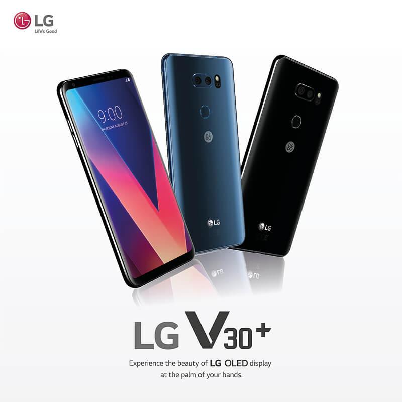 LG V30+ highlights an immersive OLED technology