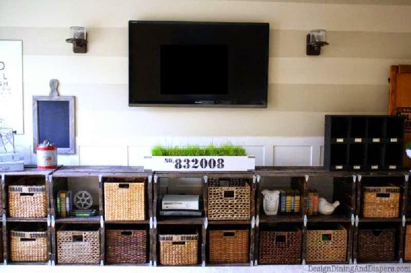 Construye una bonita estanter a modular con palets - Mueble salon palets ...