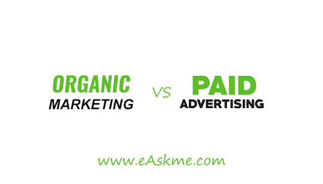 The Difference between Organic Marketing and Paid Advertising: eAskme