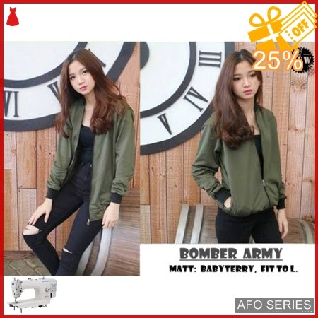 AFO017 Model Fashion Bomber Army Red ga ada Murah BMGShop