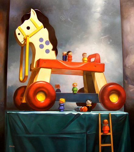 Paintings Of Candy Treats and Childhood Toys