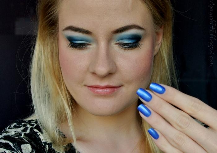 Agusiak747blogspotcom Makijaż Elektryzująco Niebieskie Oczy I