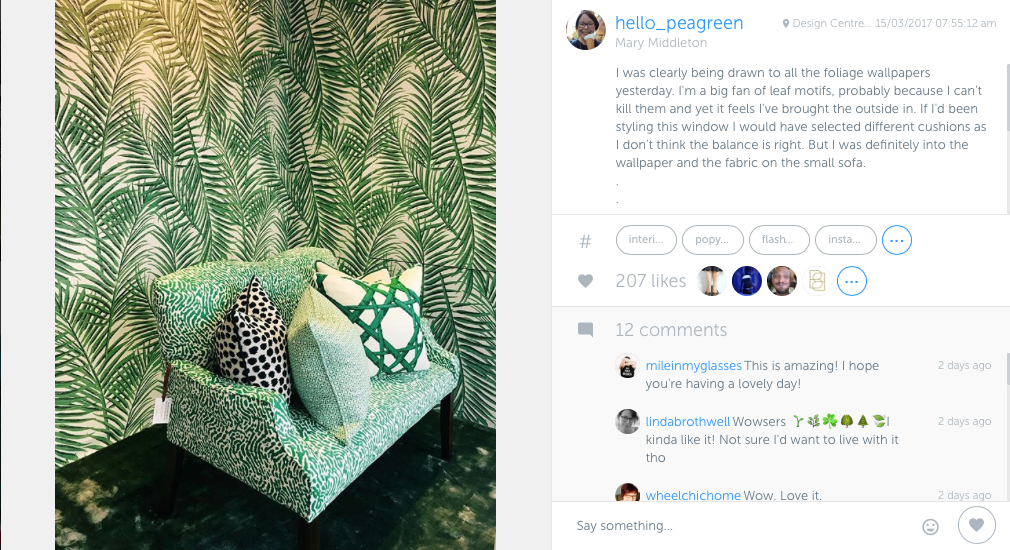 My Week in Instagram, Instagram, hellopeagreen, interiors blogger, design blogger, design lovers, green, plants