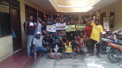 FKM-AP Wilayah Yogyakarta Menyatakan Sikap Menolak Pembangunan Pangkalan Militer TNI AU di Wamena