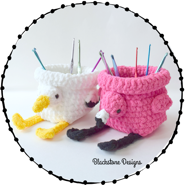 Crochet Pattern for Flamingo Basket Pelican Basket