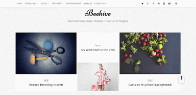 Behive personal responsive blogger template with multiple sliders