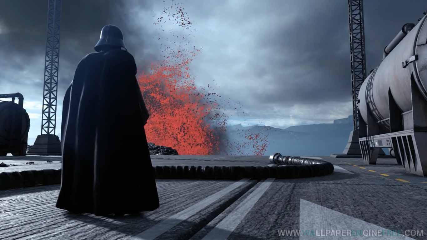 Download Star Wars Battlefront Darth Vader Sullust Lava Wallpaper Engine Free