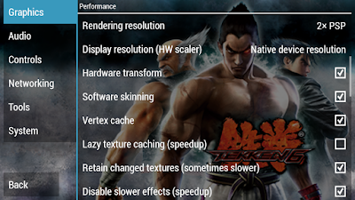 Tekken 7 PPSSPP Graphics Settings