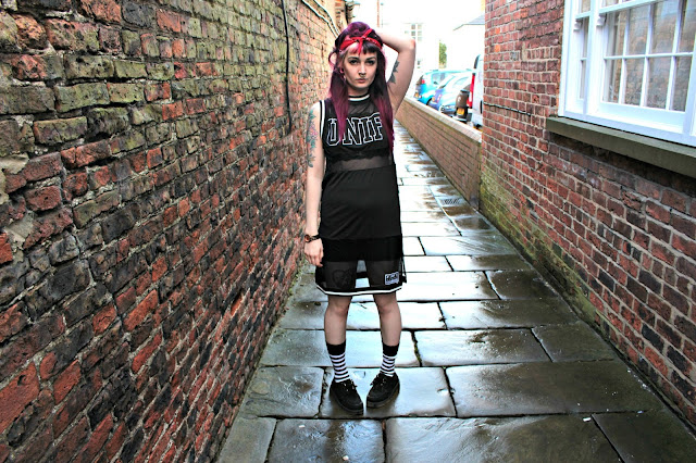UNIF mesh dress grunge fashion