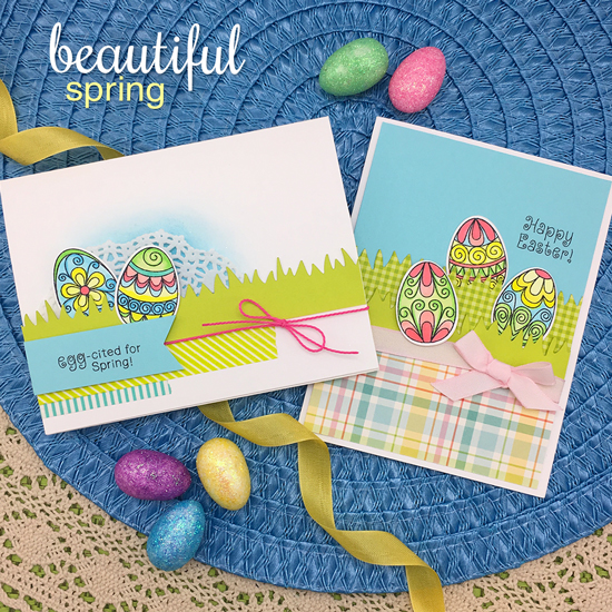Easter Cards by Jennifer Jackson | Beautiful Spring Stamp Set by Newton's Nook Designs