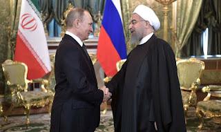 Rouhani y Putin conjugandoadjetivos