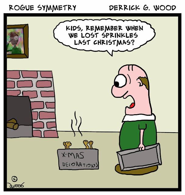 A Rogue Symmetry Cartoon by Derrick G. Wood!