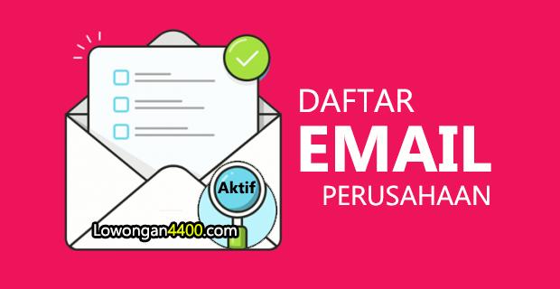 Daftar Alamat Email Perusahaan - Random Email 2019