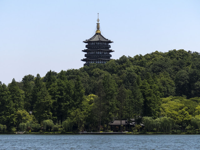 Pagoda on West Lake in Hangzhou China