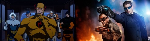 Reverse Flash Captain Cold Heat Wave in Justice League The Flashpoint Paradox and CW Flash TV Show