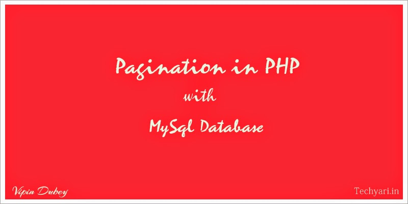 Pgination in PHP with MySql database