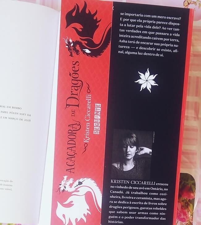 A-cacadora-de-dragoes, Kristen-Ciccarelli, Editora-Seguinte, marcador