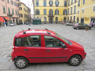Fiat Panda car rental in northern Tuscany Italy