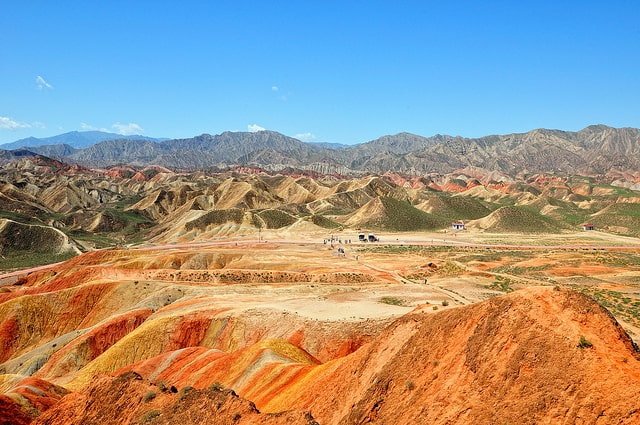 places to visit Rainbow Mountains, Zhangye Danxia, China