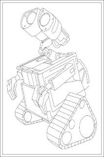 Ausmalbilder von Wall-E zum Drucken