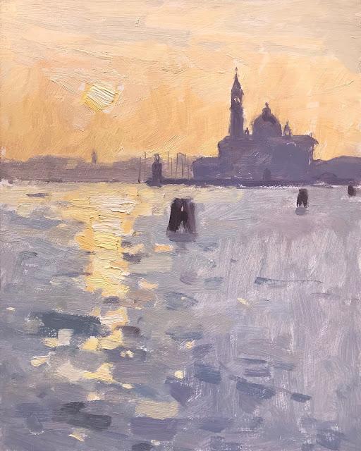 #388 'Sunrise 3, San Giorgio Maggiore' 8×10″
