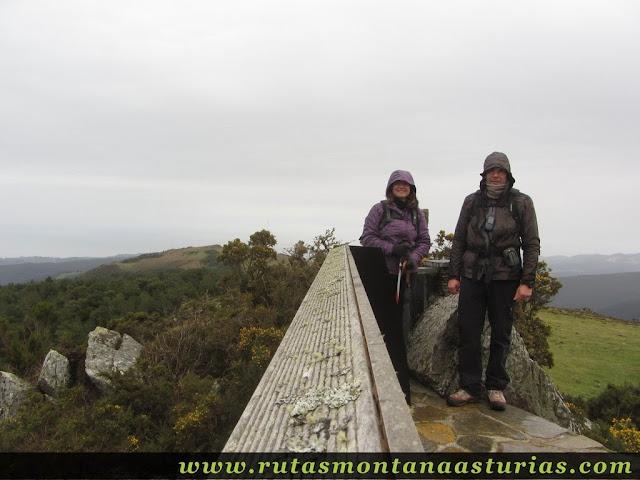 Cima del pico Penouta, techo del concejo de el Franco