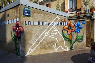 Sunday Street Art : Hommage à La Linea - Nowart / Arnaud Rabier - rue de la Py - Paris 20