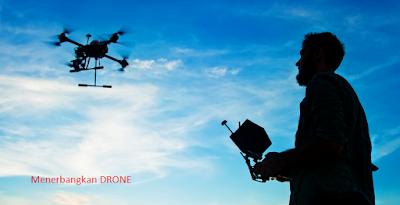 Belajar menerbangkan Drone