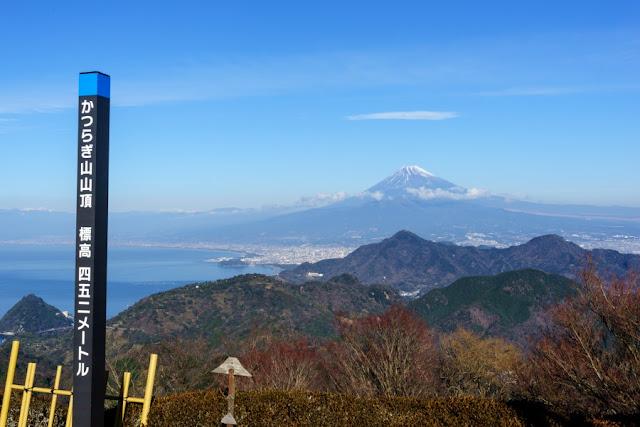 葛城山山頂からの景色~伊豆の国パノラマパーク