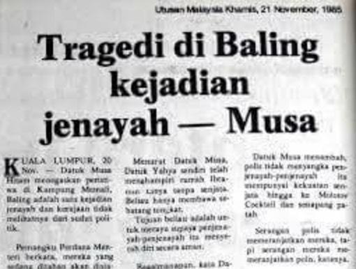 Kisah Benar Tragedi Memali, Mahathir Tidak Terlibat