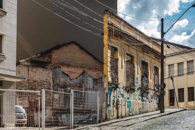 Casa na Saldanha Marinho, restando apenas duas parede, que é Unidade de Interesse de Preservação
